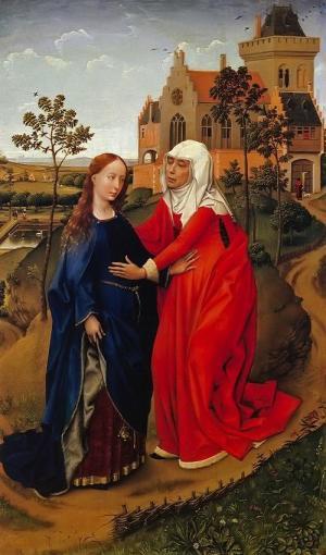 The Visitation, Rogier van der Weyden, 1445. Museum der Bildenden Künste, Leipzig